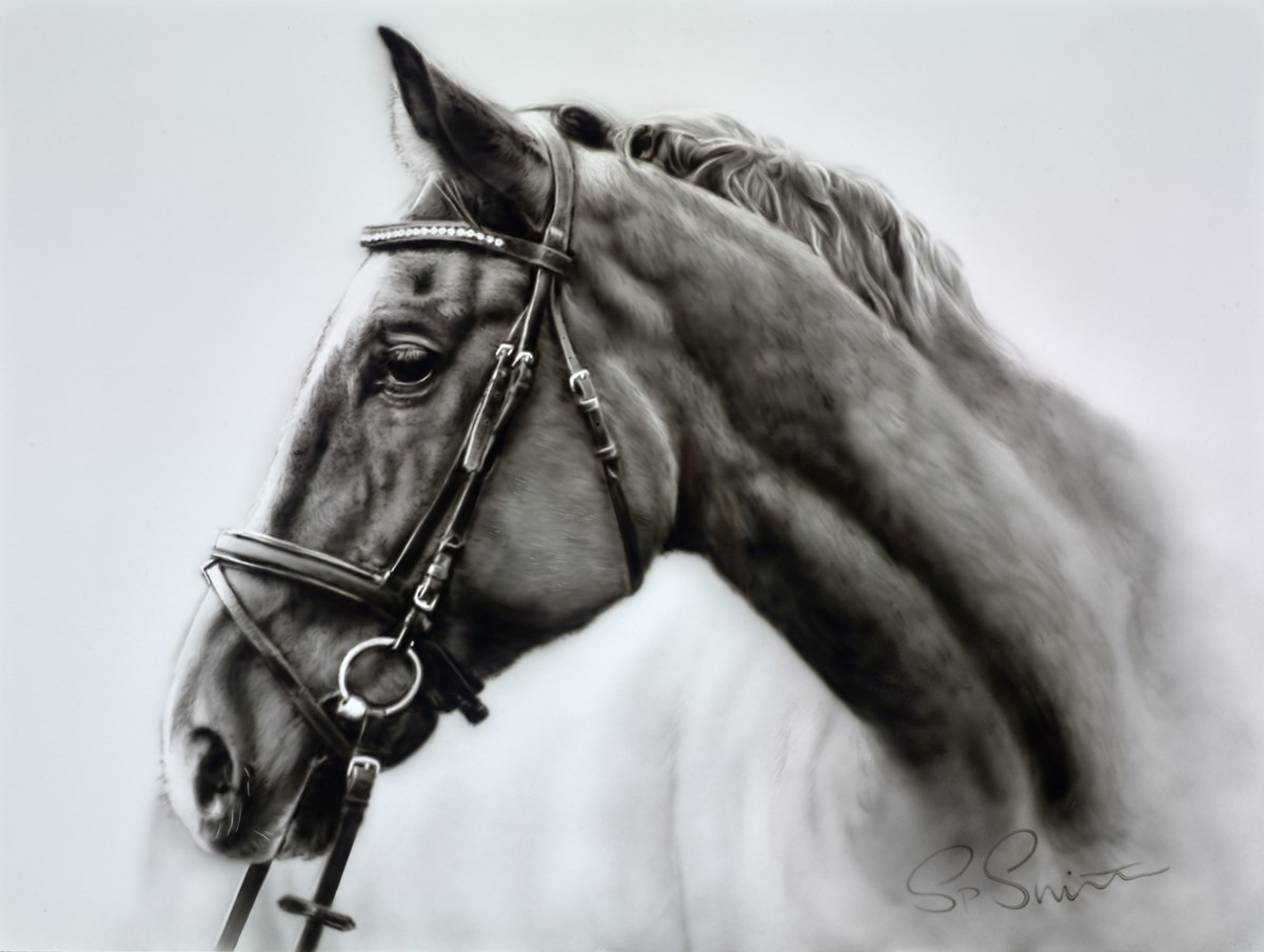 Dark Horse III by steven smith -  sized 32x24 inches. Available from Whitewall Galleries